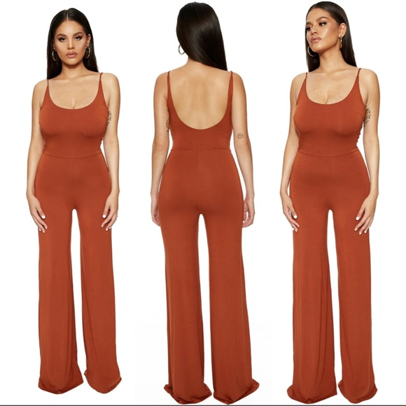 a1861e71eb9 New Naked Wardrobe I bring the scoop rust jumpsuit